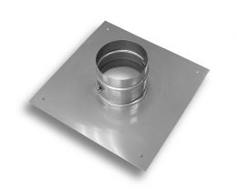 "Aluminum Flex Support Plate – 16""x16"" with Hose Clamp"