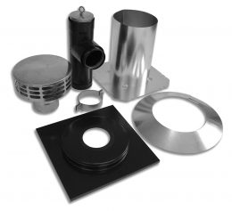 Bio Vent® Flat Ceiling Vent Kit - Type 304 Stainless Steel (Wood)
