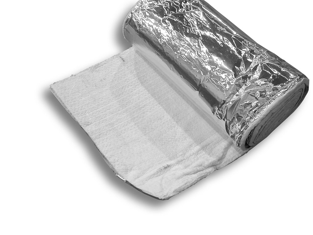 8 Lb. Ceramic Wool Insulation Blanket Foil Faced 25' Rolls Category Image
