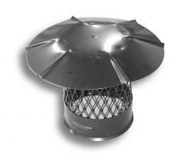 Black Galvanized Steel Chimney Cap – Round