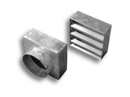 Aluminum Closable Louver and Optional Round Adapter
