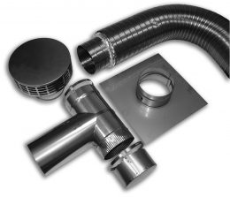 Light SS Pre Insulated Two-Piece Flex Tee KIts (Type 316L)