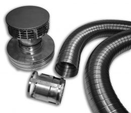 SS Flex Liner Kit for Zero Clearance Fireplace Installation