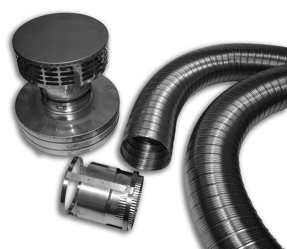 SS Flex Liner Kit for Zero Clearance Fireplace Installation Category Image