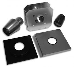 Bio Vent® Wall Vent Kit - Type 304 Stainless Steel (Wood)